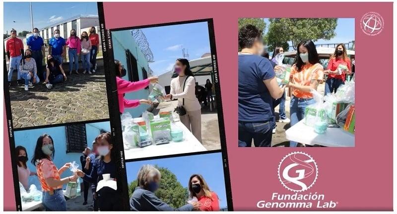 Donación productos Fundación Genomma Lab